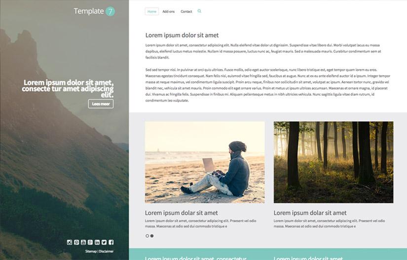 website template van de maand