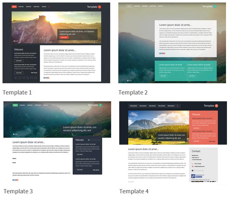 Nieuwe website templates